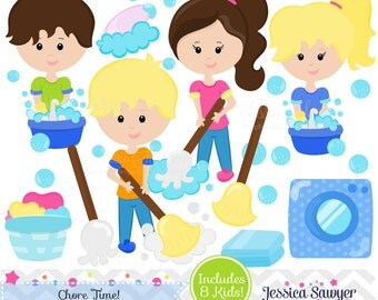 INSTANT DOWNLOAD, chore clipart and  vectors for personal and commercial use