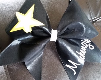 Army Star Cheer Bow
