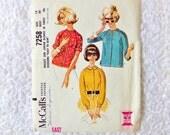 Vintage McCalls 7258 Blouse Pattern 1964 Size 16