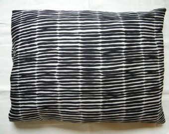 A pair of pure linen flax pillowcase pillow case queen / standard size black print ornament bed linens bed clothes bedding lin