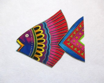 "Fantasy Fish Iron On Patch Applique 4 3/4"""