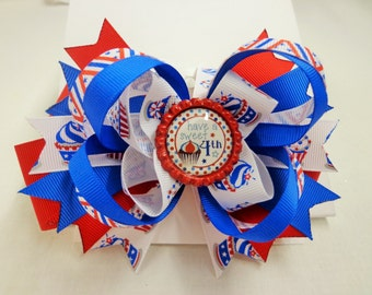 4th of July Cupcake Bow