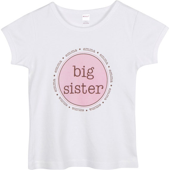 Big Sister Middle Cousin T Shirt Girls  Personalized  High Quality Tee SHORT SLEEVE