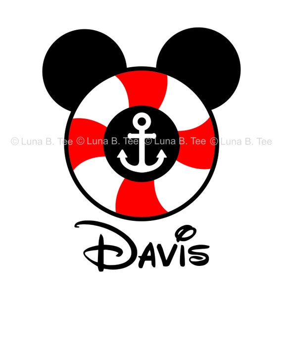 Disney Cruise Lifesaver Tshirt Personalized Name Initial or Mouse Ears T Shirt Girls Boys Tee Baby Onesie High Quality Shirt