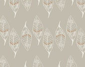 SALE - WANDERER by April Rhodes for Art Gallery Fabrics - Gusts of Leaves Silver - 1 Yard - Quilting Weight Cotton Fabric