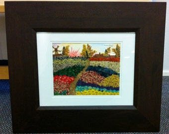 Field of Flowers - ORIGINAL Handmade Pressed Flower Art Frame