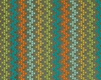 Aqua Orange Upholstery Fabric - Lime Green Fabric - Teal Striped Home Decor - Taupe Crypton Furniture Upholstery Material - Lime Green Decor