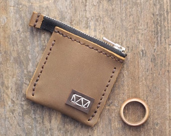Leather Wedding Ring Pouch for Ring Bearers   Wedding Band Pouch   Engagement Ring Carrier