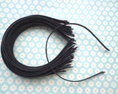 Good quality--20 pcs 5mm wide black  plain satin headband