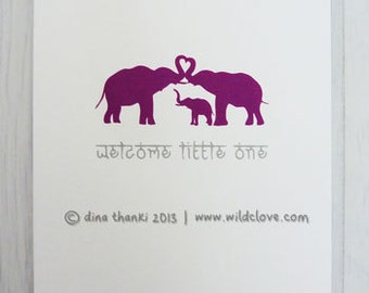 Baby Greetings Card - Welcome Little One