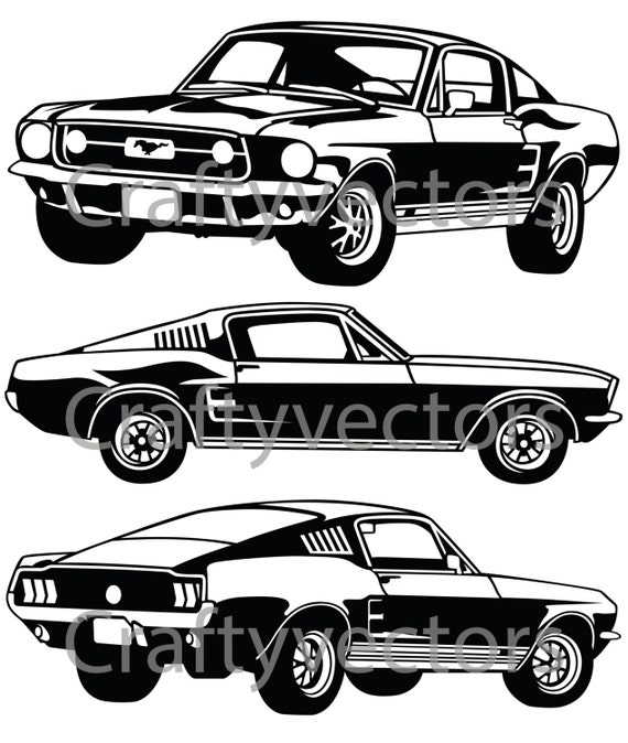 Ford Mustang 67 GT Vector File