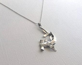 Shark necklace etsy aloadofball Gallery