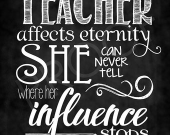 Scripture  Art - Quote for Teachers #2 - Chalkboard Style