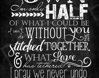 Scripture Art - Song: God Gave Me You ~ Chalkboard Style