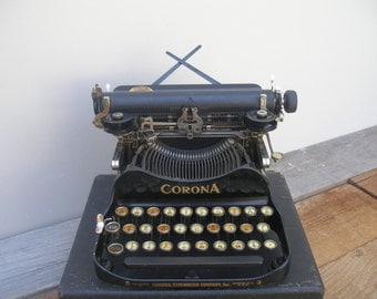 Antique Corona Folding Typewriter Co. No. 3