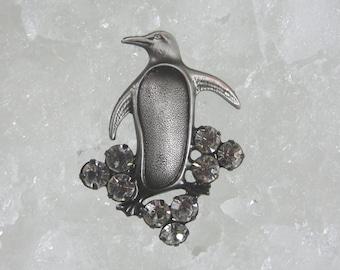 Penguin Brooch- Penguin Jewelry- Swarovski Crystal- Penguin Gift- Crystal Penguin
