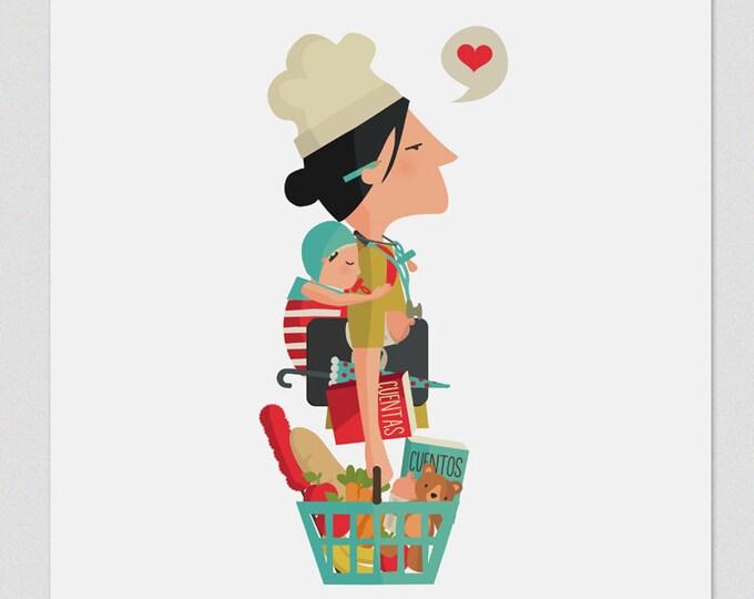 """Ilustración """" Día de la Madre """"."""