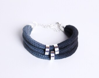 Ombre Bracelet in grey and anthrazit
