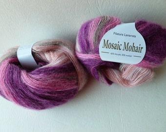 Yarn Sale  -Purple and Pink 31294 Mosaic Mohair by Filatura Lanarota