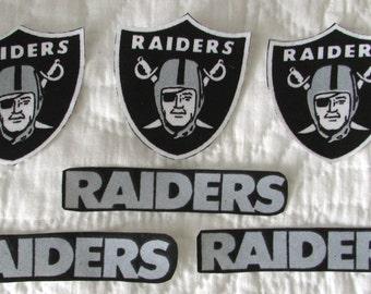 """Oakland Raiders """"NO SEW"""" Appliques"""