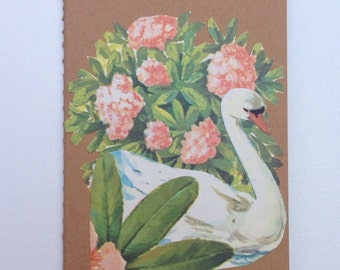Notebook/ Vintage illustration Swan / journal/ Valentines Day / Mothersday / For her