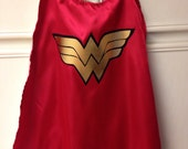 READY TO SHIP toddler Wonder Woman cape.