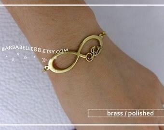Personalized Name Bracelet- INFINITY BRACELET-Custom Name Bracelet- Name Bracelet- Your name bracelet- Birthday-Bridesmaid-Graduation gift.