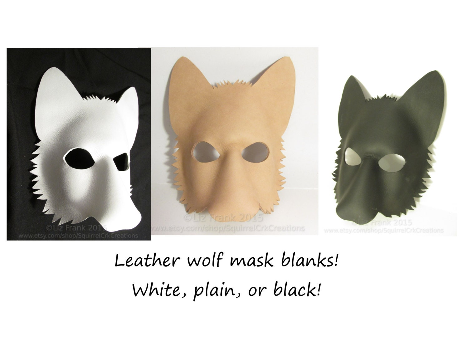Blank Leather Wolf Mask Form Animal mask LARP Cosplay