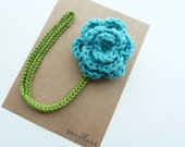 Turquoise Pacifier Clip--Crochet Flower pacifier clip--Baby Girl accessories--MAM adapter--Sweetlace Shop