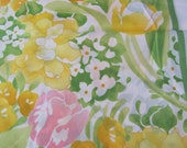 """Large Colorful Yellow White Floral Acetate  Scarf 28"""" Square"""