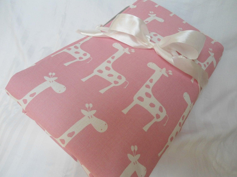 padded baby play mat pad floor blanket baby pink giraffes