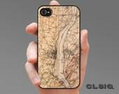 Vintage Newburgh - Hudson River New York Map iPhone Case for iPhone 6, iPhone 5/5s, or iPhone 4/4s, Samsung Galaxy S5, Galaxy S4, Galaxy S3