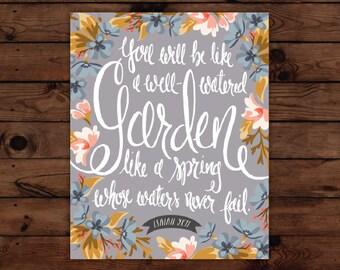 Isaiah 58:11 Print