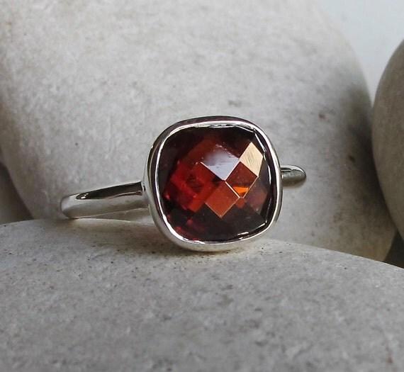 garnet ring january birthstone ring gemstone rings by belesas