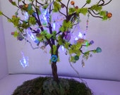 Enchanting ....Butterfly Lights Fairy Garden Tree.....Fantasy....OOAK...Free Shipping!