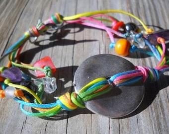 Multicolor Wax String Bracelet