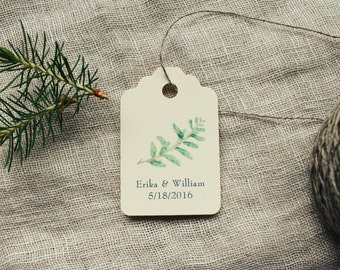 Favor Tags Gift Tags Evergreen Wedding / Shower / Party