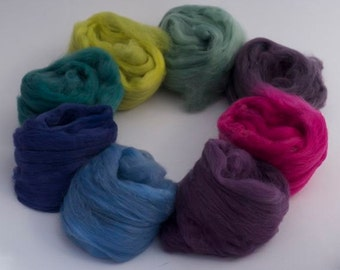 """Hand dyed Faux Cashmere 80g - """"Tea Garden"""" supplimentary set"""