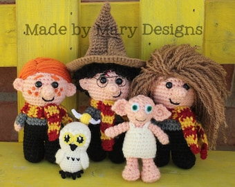 PDF PATTERN: Mini Wizard Friends Collection **Crochet Pattern Only--Not actual Dolls!!**