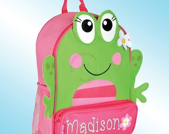 Backpack - Personalized and Embroidered - Sidekick Backpack - GIRL FROG