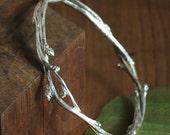 Sterling Silver Bittersweet Vine Bracelet, Twig bracelet (#33)