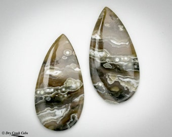 Ocean Jasper Matched Pair cabochons
