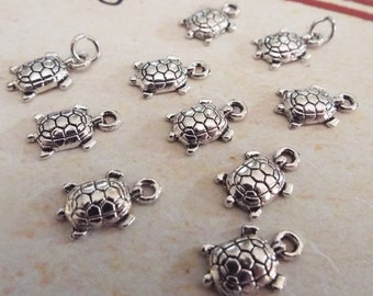 Turtle Jewelry Charms for Jewelry Making, Jewelry Supplies, Handmade Jewelry, Charm Bracelets - C18015