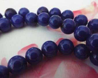 45 Lapis Gemstone Beads for Jewelry Making, Jewelry Supplies, Beading Supplies - B43415