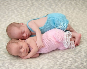 Newborn Mohair Romper / Pants - photo props olive, green, gray, brown, blue, pink