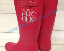 Monogrammed Personalized Red Rain Boots.....Lilly Monogram Red Rain Boots