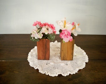 Decorative Wood Vase Centerpiece, Decorative Wood Center Piece, Wood Centerpiece,Wood Centerpiece,Table Center Piece, Rustic Wood Box