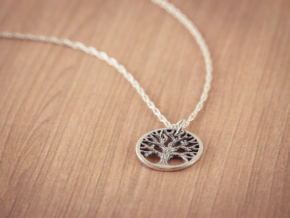 SALE! Tree of Life Necklace Chain - Tree of Life Pendant, Silver Necklace, Sterling Silver, Tree of Life Charm