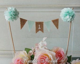 1st Birthday Cake Topper Bunting