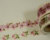 2 Rolls of Japanese Anime Washi Masking Tape:  Lovely Pink Flower